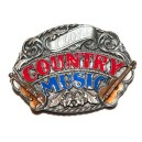 Boucle de ceinture western country, motif country music